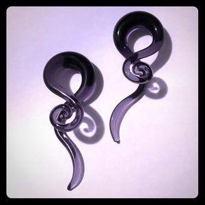 Purple Glass gauges 7/16
